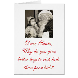 "Oh that's just wrong ""Dear Santa"" Christmas Cards!"