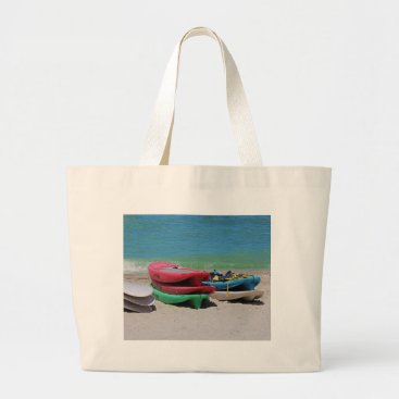 Beach Themed Oh the Beach Life Large Tote Bag