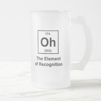 Oh! The Element of Recognition Frosted Glass Beer Mug