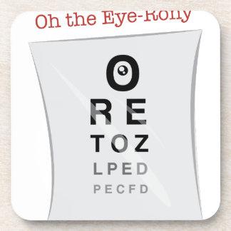 Oh The Eye-Rony Beverage Coasters