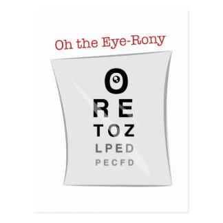 Oh The Eye-Rony Postcard