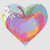 Oh The Glorious Apple Heart Sticker
