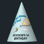 "Oh! The Places He&#39;ll Go! - First Birthday Party Hat<br><div class=""desc"">Celebrate your baby boy&#39;s first birthday with these super cute customizable &quot;Oh,  the Places He&#39;ll Go&quot; party hats. Personalize with your son&#39;s name and age.</div>"