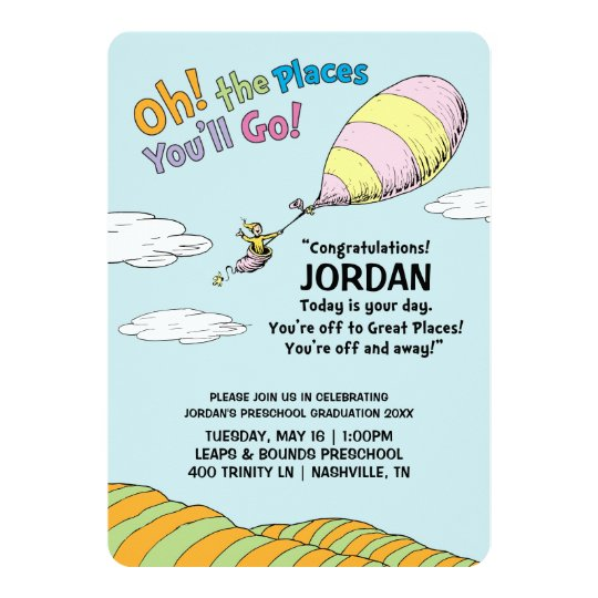 oh the places you ll go graduation announcement zazzle com