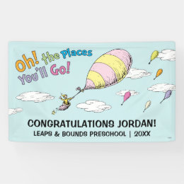 Oh! The Places You'll Go! Graduation Announcement Banner