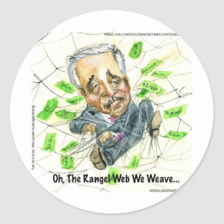 Oh The Rangel Web Funny Gifts Tees Cards Etc Classic Round Sticker