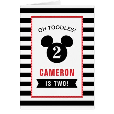 Disney Themed Oh Toodles, it's your Birthday Girl!  Personalize Card