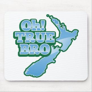 Oh TRUE BRo! kiwi map Mouse Pad