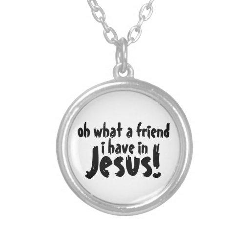 ¡oh un qué amigo tengo en Jesús! Collar