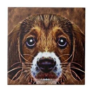 ¡OH! ¡Un qué perro de perrito! - Beagle precioso Azulejo Ceramica