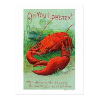 Oh usted escena de la langosta tarjetas postales