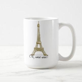 Oh, wee wee! Eiffel Tower Mug
