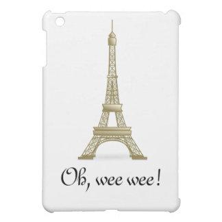 Oh, Wee Wee!: Fun Eiffel Tower Case iPad Mini Covers