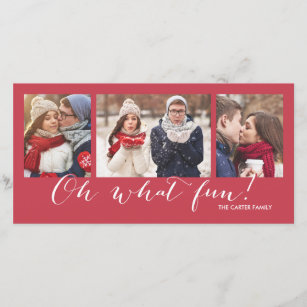 oh what fun 3 photo red holiday