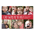 Oh What Fun 6 photo Holiday Photo Card Invites