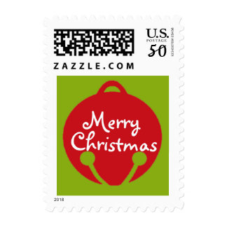 Oh What Fun! Christmas bell postage stamp