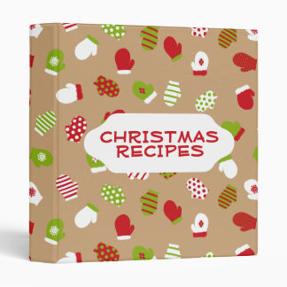 Oh What Fun! Christmas mittens binder