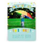 Oh What Fun Confetti First Birthday Party Invite Card