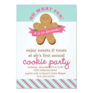 Oh What Fun! - Cookie Exchange Party Card