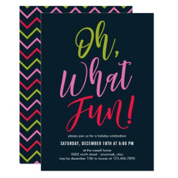 Professional Business Oh What Fun EDITABLE COLOR Party Invitation