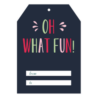 Oh What Fun Gift Tag Card