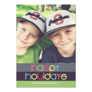 Oh What Fun Happy Holidays Card | 5x7 | Flat Personalized Invites