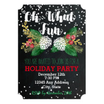 Oh What Fun - Holiday Party Invitation
