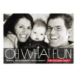 Oh What Fun - holiday photo card