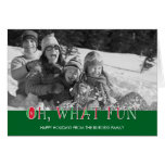 Oh What Fun Holiday Photo Card Card