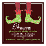 Oh, What Fun! Jolly Elf Holiday Party Invitation at Zazzle