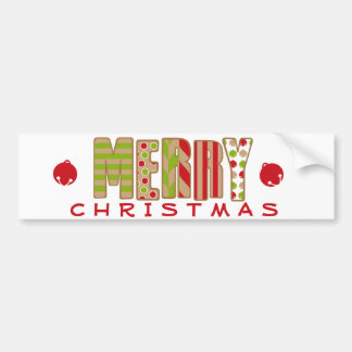 Oh What Fun! Merry Christmas design Bumper Sticker