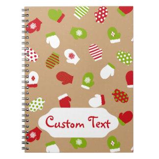 Oh What Fun! Mittens design Spiral Note Book