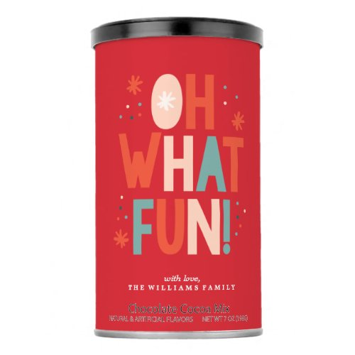 Oh What Fun  Personalized Drink Mix