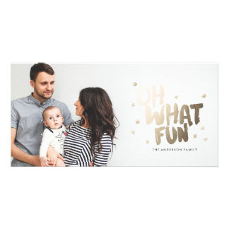 OH WHAT FUN PHOTO Christmas Card