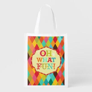 Oh What Fun! Reusable Holiday Bag Reusable Grocery Bag