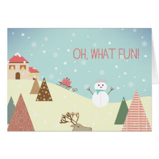 Oh What Fun Holiday Cards - Invitations, Greeting & Photo Cards ...