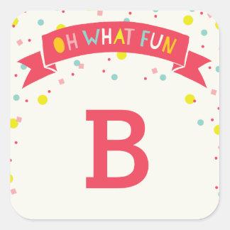 Oh What Fun Sweet Confetti Girl Birthday Sticker