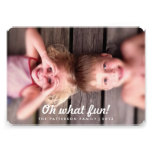 Oh What Fun Vintage Look Holiday Photo Card