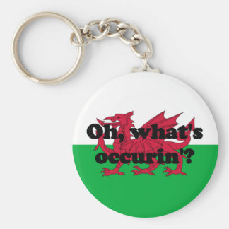 'Oh, what's occurin'?' Basic Round Button Keychain