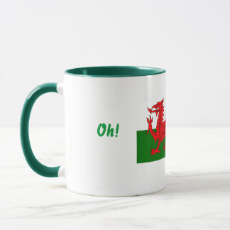 Oh Whats Occuring...welsh flag mug