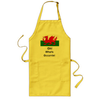 oh whats occurring welsh flag apron