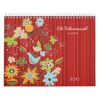 Oh Whimsical! Custom Flexi Calendar 2012