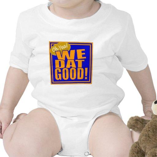 ¡Oh Yea! ¡Nosotros Dat bueno! (Naranja azul) Traje De Bebé