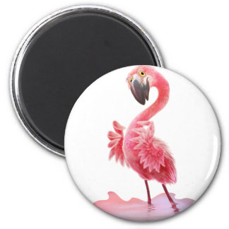 Oh Yeah Flamingo! 2 Inch Round Magnet