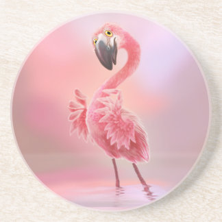 Oh Yeah Flamingo! Drink Coaster