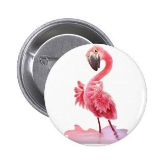Oh Yeah Flamingo! Pinback Button