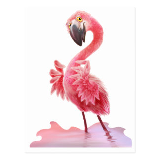 Oh Yeah Flamingo! Postcard