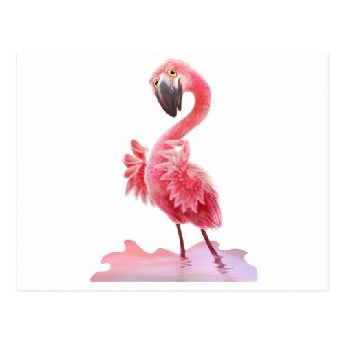 Oh Yeah Flamingo Postcard