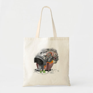 Oh Yeah! - The Carbon Footprint Monster Budget Tote Bag