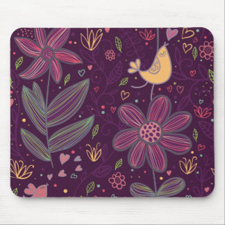 Oh Yellow Birdie Mouse Pad